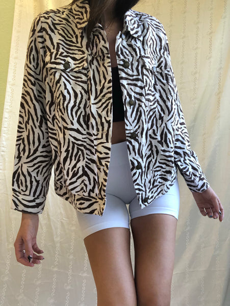 Linen Zebra Over Shirt