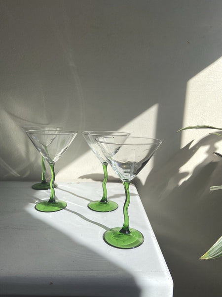 Trippy Stems Martini Set