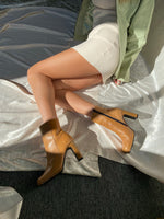 Camel Square Toe Booties / 7