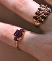 Triple Ruby Ring