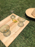 Sea Green Cocktail Glasses Set