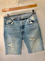 Distressed Edge Bermuda Shorts
