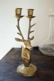 Brass Deer Candle Holder