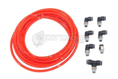 PUSH LOCK Red Vacuum Fitting Kit for Toyota Supra w/ Single Turbo & Wastegate