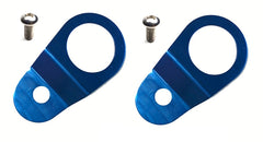Torque Solution Radiator Mount Combo w/ Inserts (Blue) : Mitsubishi Evolution 7/8/9