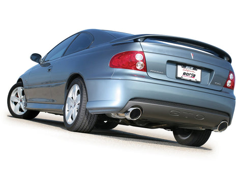 Borla 05-06 Pontiac GTO Coupe 2dr 6.0L 8cyl AT/MT 4spd/6spd RWD SS Catback Exhaust w/ inXin Pipe