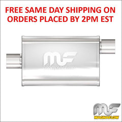"3"" Magnaflow Universal Stainless Steel Performance Muffler Center Offset 11229"