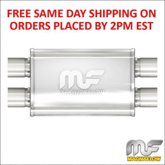 "2.5"" Magnaflow Stainless Muffler Dual Inlet/Dual Outlet 14"" Body Length 11386"