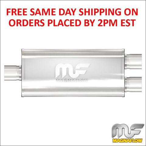 "Magnaflow 5""x8"" Oval Muffler, Center 2.5"" In/Dual, 2.5"" Out, 14"" Body 12158"