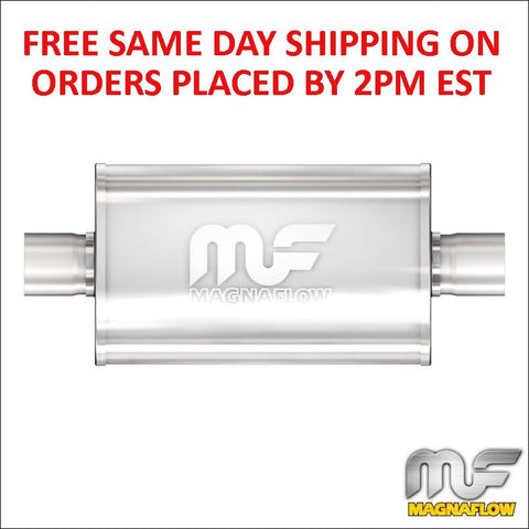 "2.5"" MagnaFlow Stainless Steel Muffler C/C -5x8 Oval 14"" Body 12216 In Stock!"