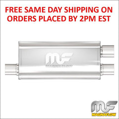"Magnaflow Stainless Steel Muffler 3"" Inlet/2.5"" Outlets 18"" Body Length 12267"