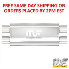 "Magnaflow 5""x8"" Oval Muffler, 2.5"" Dual In/Out, 18"" Body, 24"" Length 12468"