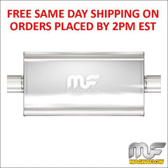 "Magnaflow Stainless Muffler 3"" Center Inlet/Center Outlet 22"" Body Length 12579"