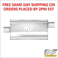 "Magnaflow Stainless Muffler 3"" Center Inlet/Offset Out 22"" Body/28"" Long 12589"