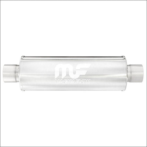 "MagnaFlow 12771 - 7"" Round SS Diesel Muffler - 4"" IN/OUT - 20"" Body / 27"" Long"