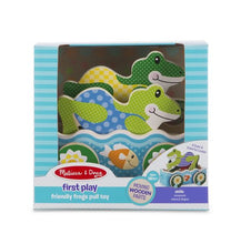 Load image into Gallery viewer, First Play Friendly Frogs Pull Toy