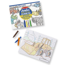 Load image into Gallery viewer, Jumbo Coloring Pad- Blue