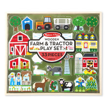Load image into Gallery viewer, Wooden Farm and Tractor Play