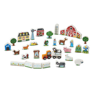 Wooden Farm and Tractor Play