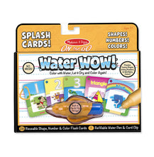Load image into Gallery viewer, Water wow! Splash Card Shapes, Numbers & Color