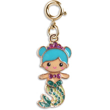 Load image into Gallery viewer, Gold Swivel Mermaid Charm