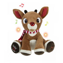 Load image into Gallery viewer, Rudolph Plush with Music and Lights