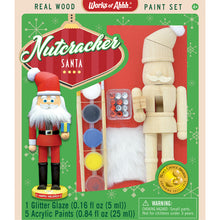 Load image into Gallery viewer, Holiday Wood Paint Kit Nutcracker Santa