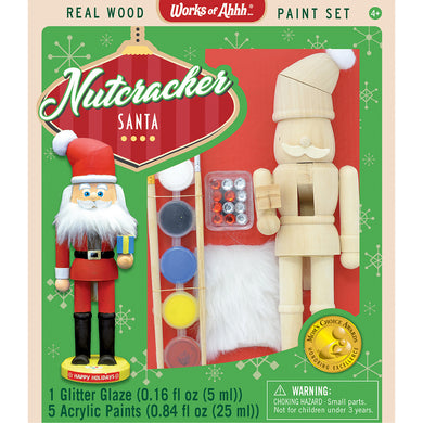 Holiday Wood Paint Kit Nutcracker Santa