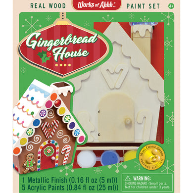 Holiday Wood Paint Kit Gingerbread House