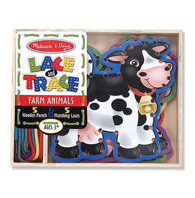 Farm Animals Lace and Trace Panel