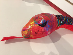 Sequin Rainbow Snake 54""
