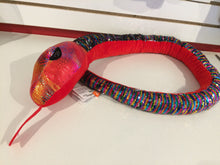 Load image into Gallery viewer, Sequin Rainbow Snake 54""