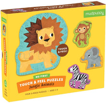 Load image into Gallery viewer, Jungle Animals My First Touch & Feel Puzzle