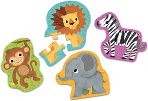 Jungle Animals My First Touch & Feel Puzzle