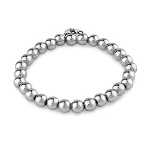 Charm It 6mm Silver Bead Charm Bracelet