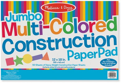 Jumbo Multi-Color Contruction Pad
