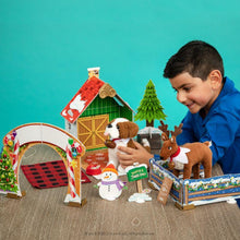Load image into Gallery viewer, ELF PETS CHRISTMAS CABIN PLAYSET