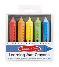 Load image into Gallery viewer, Learning Mat Crayons (5 colors)