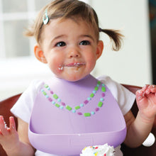 Load image into Gallery viewer, Baby Bib Lilac w/Jewels