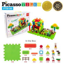 Load image into Gallery viewer, 100-Piece Farm Theme Bristle Shape Basic Building Set