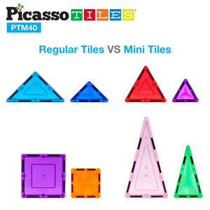 40pc Mini Diamond Building Block Tiles