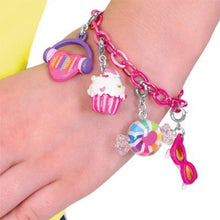 Load image into Gallery viewer, Charm It Pink Chain Bracelet