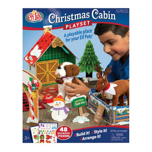 ELF PETS CHRISTMAS CABIN PLAYSET