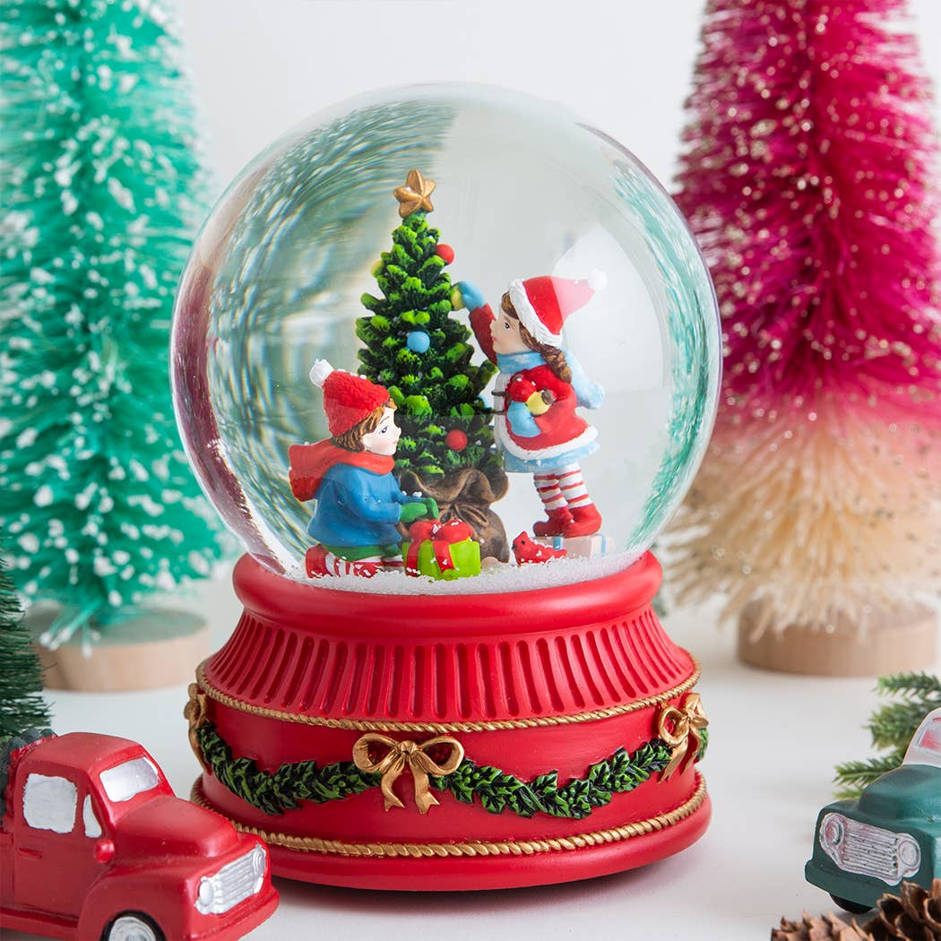 Kids Christmas Tree Snowglobe