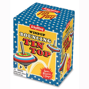 Wind-Up Bouncing Tin Tops