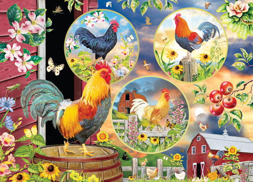 Rooster Magic 1,000 pc Puzzle