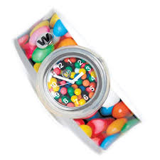 Watchitude slap watch bubblegum