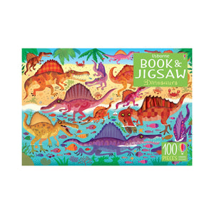 Book and Jigsaw Puzzle Dinosaurs