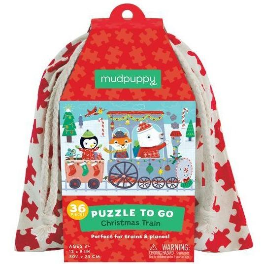 Mudpuppy On the Go Christmas Train Puzzle