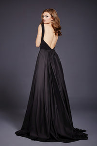 Vestido negro escote con transparencia - Laila's Dress